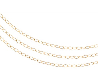 14Kt Gold Filled 2x1.5mm Cable chain  - 20ft (2356-20)/1