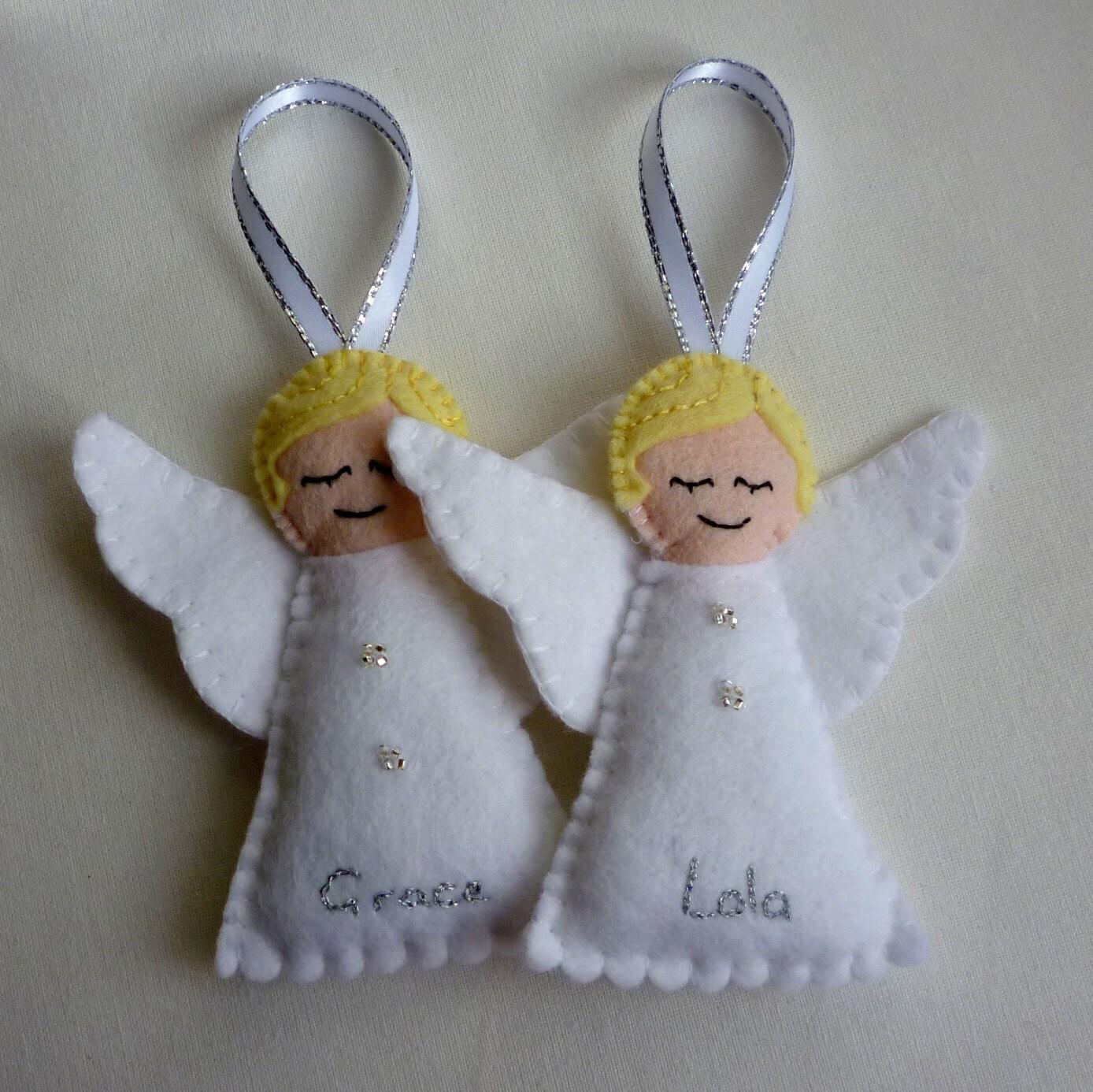 Personalised Felt Angel Handmade Ornament by ...