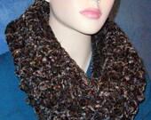 Black Crochet Infinity Scarf, Brown Crochet Infinity Scarf, Blue Crochet Infinity Scarf, Plush Crochet Infinity Scarf, Handmade Scarf