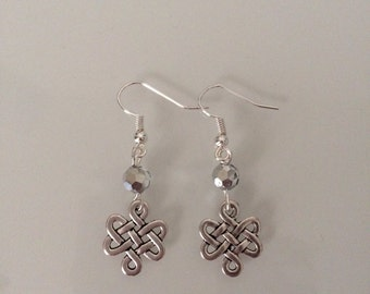 Antique Silver Celtic knot earrings