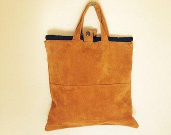 Leather Tote Orange