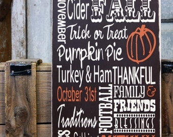 Family Thanksgiving Subway Sign on Canvas,  Fall Holiday Sign, Halloween Canvas,