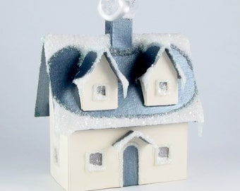 Paper House Ornament - Cape Cod