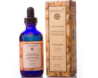 Elma and Sana 100% Pure Certified Organic Moroccan Argan Oil -4oz(120ml)