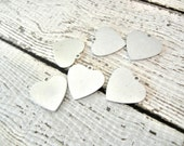 "Heart with Ring ALUMINUM 20g Blank - 1/2"" Heart with Ring - Smaller Size - You Get SIX (6) Blanks - Hand Stamped Jewelry Supply"