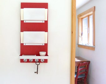 Amp Minimal Modern Red Wall Mounted Wooden Mail Letter