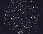 Texas Constellation Print, 8.5 x 11