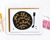 Adore You Record Card