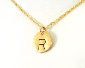"""Add a Charm: 14 Gold Filled 1/2"""" Circle Disc Pendant"""