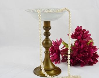 Jewelry holder, jewelry organizer, candle holder, candy dish, shabby chic