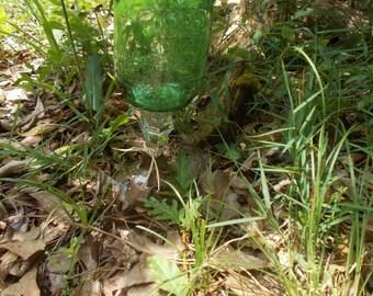 Green Mason Jar Wine Glasses, pint size