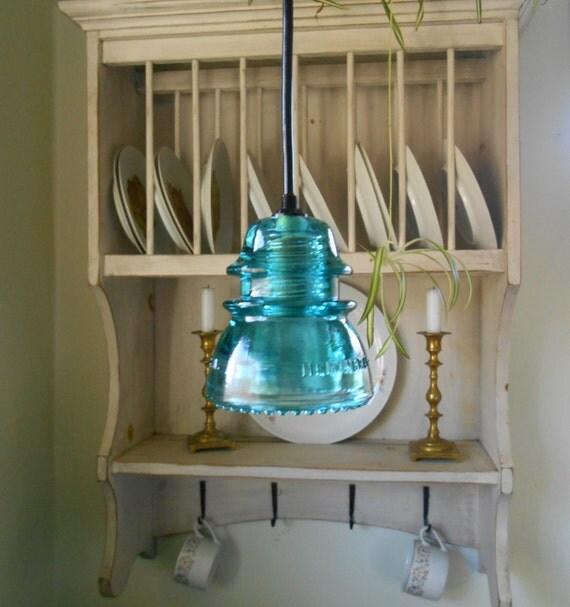 The original custom antique insulator light by for Antique insulator pendant lights