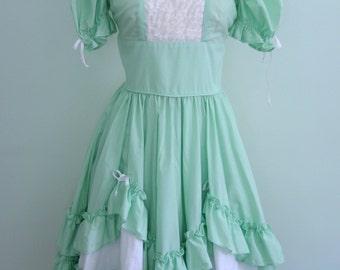 Mint Maid Dress BROKEN ZIPPER