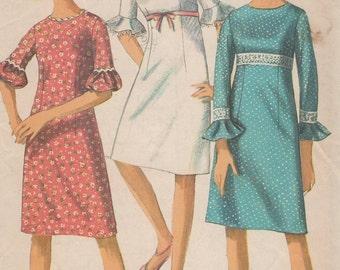 1966 Misses' Dress Simplicity 6441 Size 10 Bust 31