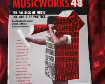 Musicworks 48 Sound Art 1990 Plunderphonics Oswald Noise Electronic Frykberg Chatham Burt Electronic Experimentation Music Construction