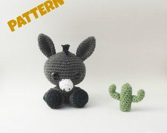Crochet Donkey Pattern / Crochet Animal Pattern / Amigurumi Animal Pattern / Crochet Pattern / Amigurumi Pattern / Kids Pattern / Kids Toys