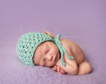 Crochet Pattern for Karma Baby Bonnet Hat - 5 sizes, newborn to child- Welcome to sell finished items