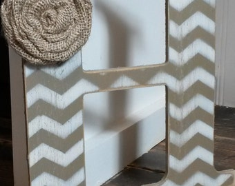 9 in Custom chevron letters for home decor - 9 inch