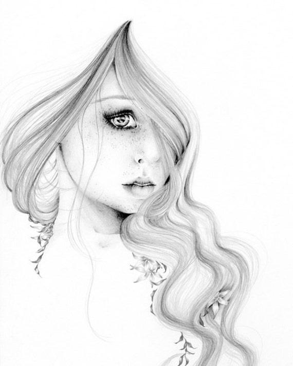 Populaire Illustration de mode noir et blanc la beauté au sein de jet GR44