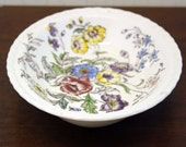 "Vintage Vernon Kilns ""May Flower"" Serving Dish w/Scalloped Edges (E4562)"
