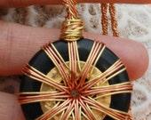 Vortex Energy Pendant - Copper and Brass
