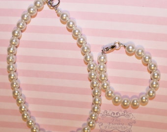 Custom Bracelet or Necklace Pearl Easter Church Dressy Classy