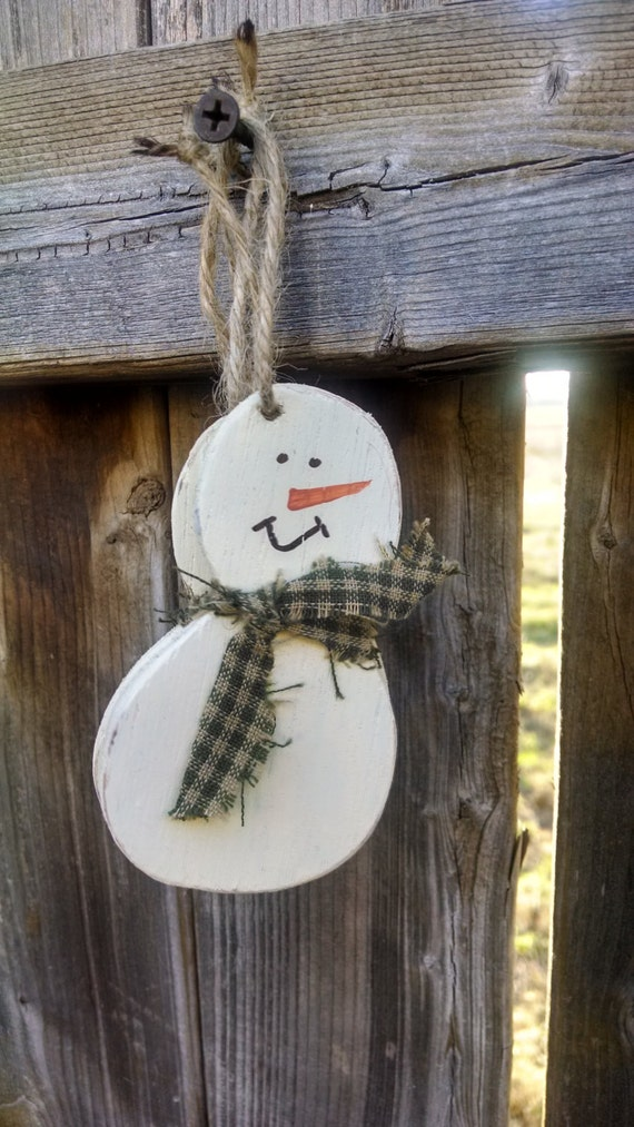 3 handmade snowman ornament