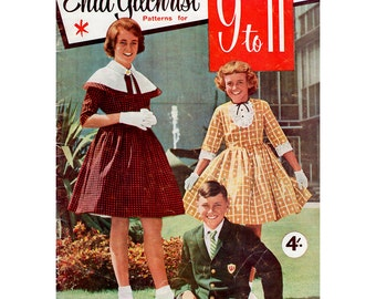 HALF PRICE Vintage Enid Gilchrist 1960s 1950s Sewing Pattern Drafting Book Children's Clothes for Girls and Boys 9-11 Years