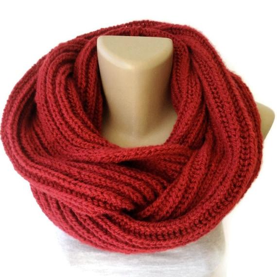 Knit Scarf Winter Scarf Women Knit Infinity Scarf by senoAccessory