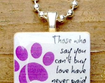 Those who say you can't buy love...  Game Tile Pendant Necklace