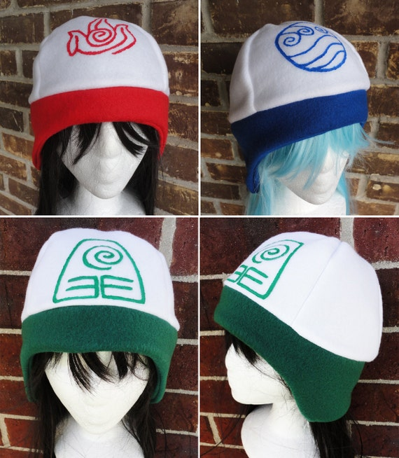 Water Tribe, Earth Kingdom, Fire Nation, Air Nomad Hat - Adult, Teen, Kid - A winter, nerdy, geekery gift!