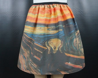 The Scream skirt - Edvard Munch - made to order