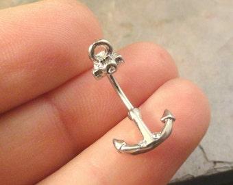 Anchor Daith Eyebrow Ring Rook Earring