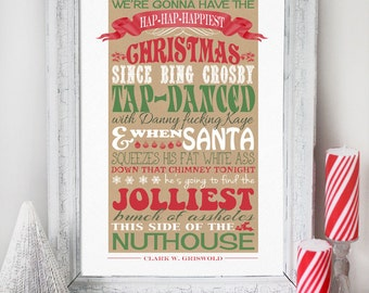 Bon Christmas Vacation Quote   INSTANT DOWNLOAD   Clark Griswold Quote    Printable Art Print Sign Poster