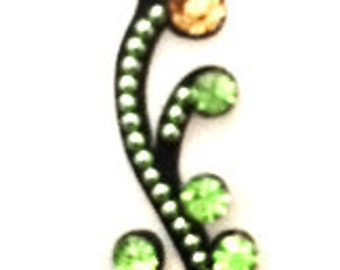 PEACOCK BINDI light GREEN Swarovski Crystal Bindi,Indian Bindis,India, Self Adhesive Tattoo Body Art Wedding & Bridal sticker