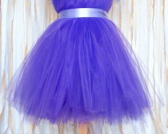 Custom Girl Tulle Princess Dress/Flowergirl Dress/Costume Dress With Sleeves