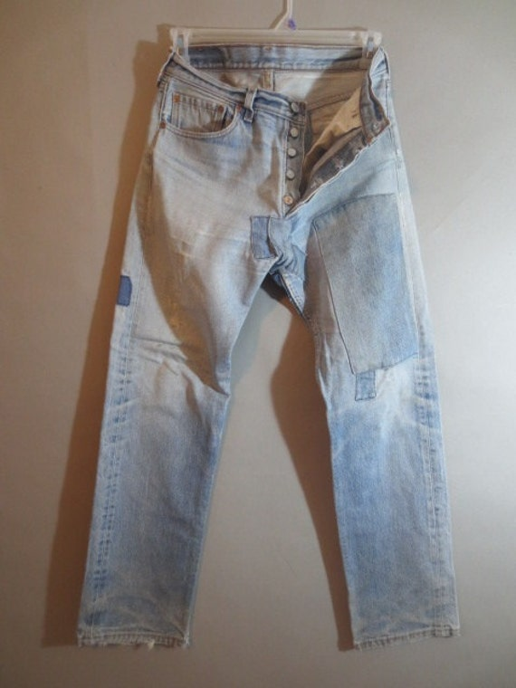 Patched Jeans Men