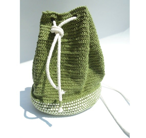 Crochet Cotton Bag : Cotton Rope Bag - CROCHET PATTERNS ONLY - basket or gift bag ...
