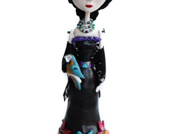 Frida - Frida Kahlo - Custom Art Doll - Mexican Art