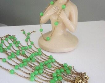 Vintage Pistachio  Japanese   Bracelet Chain