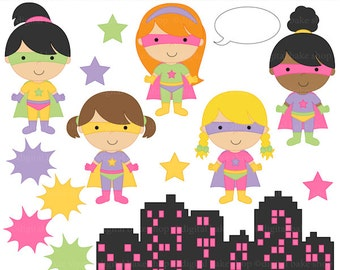 digital clipart superhero clip art super hero girls - Super Girls Clipart