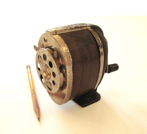 Boston Pencil Sharpener Made In Usa Vintage Wall Mount Hand