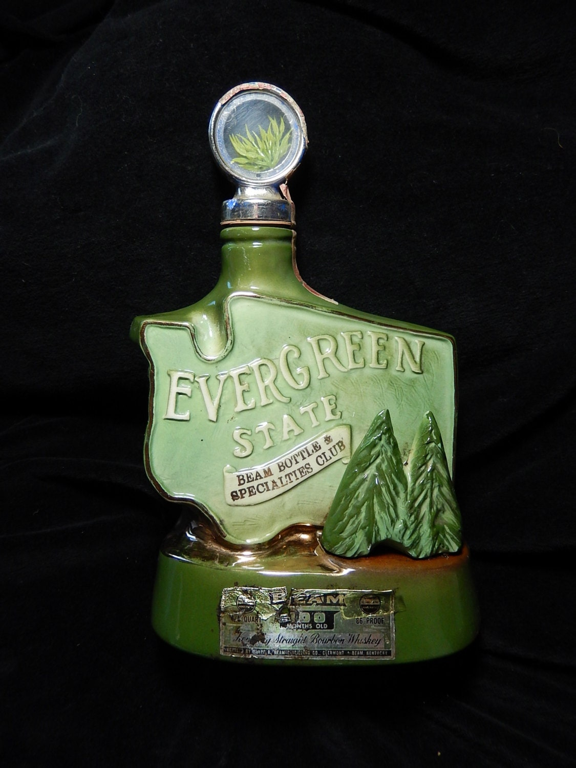 Vintage Jim Beam Decanter 1974 Evergreen State Olympia