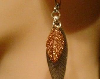 Handmade Copper Leaf Earrings