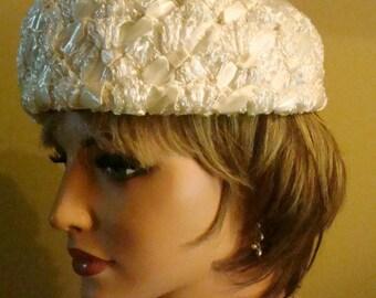 1950s Hat / Wedding hat/ Vintage Hat
