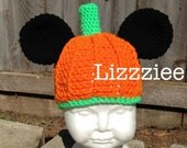 Halloween Mickey Pumpkin Crochet Hat PATTERN PDF - Instructions, make cute easy hats - newborn to adult - Instant Digital Download
