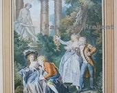 RARE Print: Judkins & McCormick Co., New York Trinquesse, L'Offrande a Venus, Vintage Antique Print pre 1917