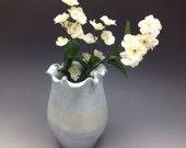 Ombré Blue Porcelain Flowered Vase