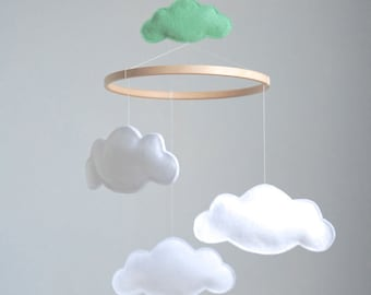 Personalised Cloud Baby Crib Mobile  - Custom Colors Available