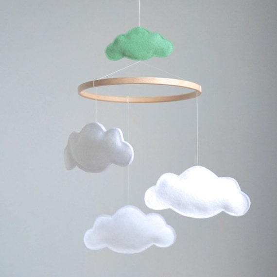 Items Similar To Cloud Baby Crib Mobile Custom Colors